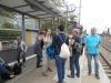 Abschiedstrunk am Bahnhof